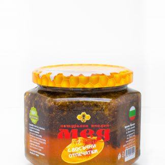 Мед с восъчни отпечатки (пчелна дъвка)