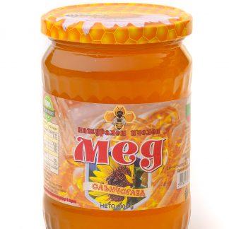 Мед слънчоглед стъклен буркан