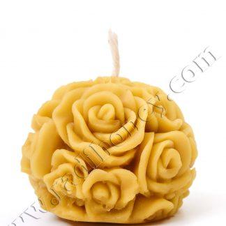 Восъчна свещ цветя №2