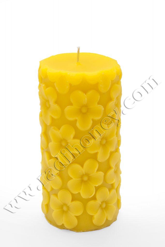 Восъчна свещ цветчета- голяма