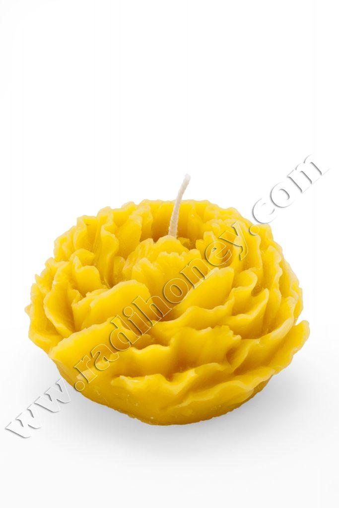 Восъчна свещ цветя №3