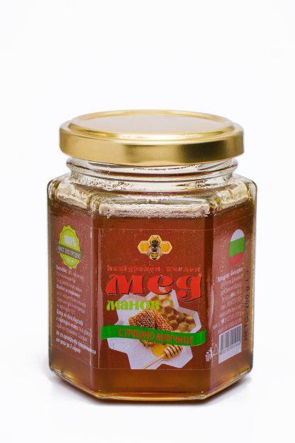 Мед манов с пчелно млечице
