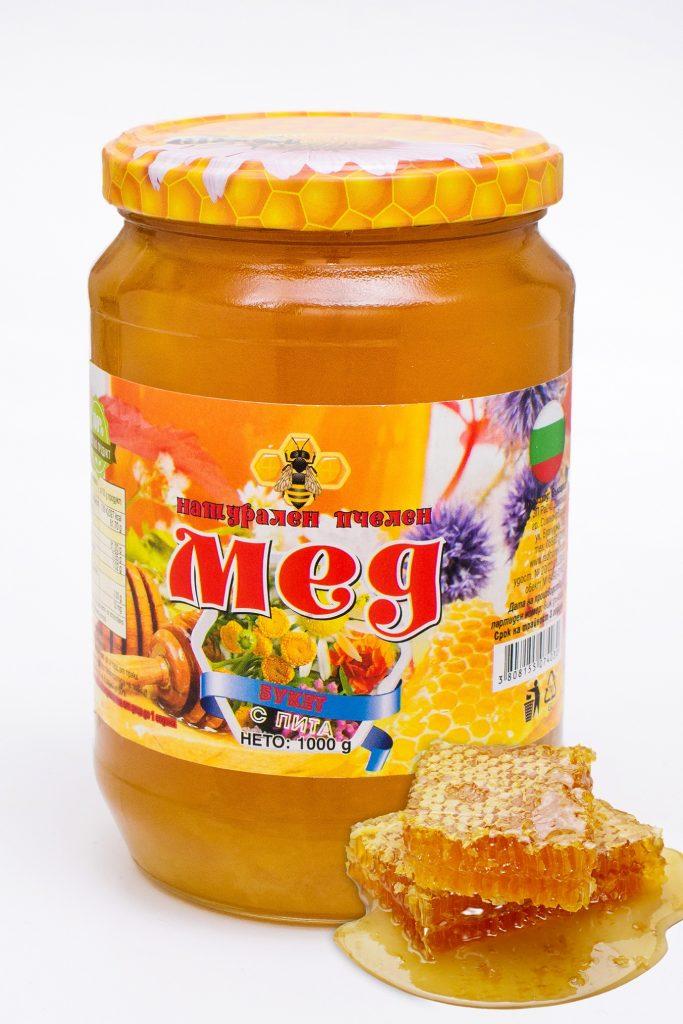 Мед букет (полифлорен) с восъчна пита