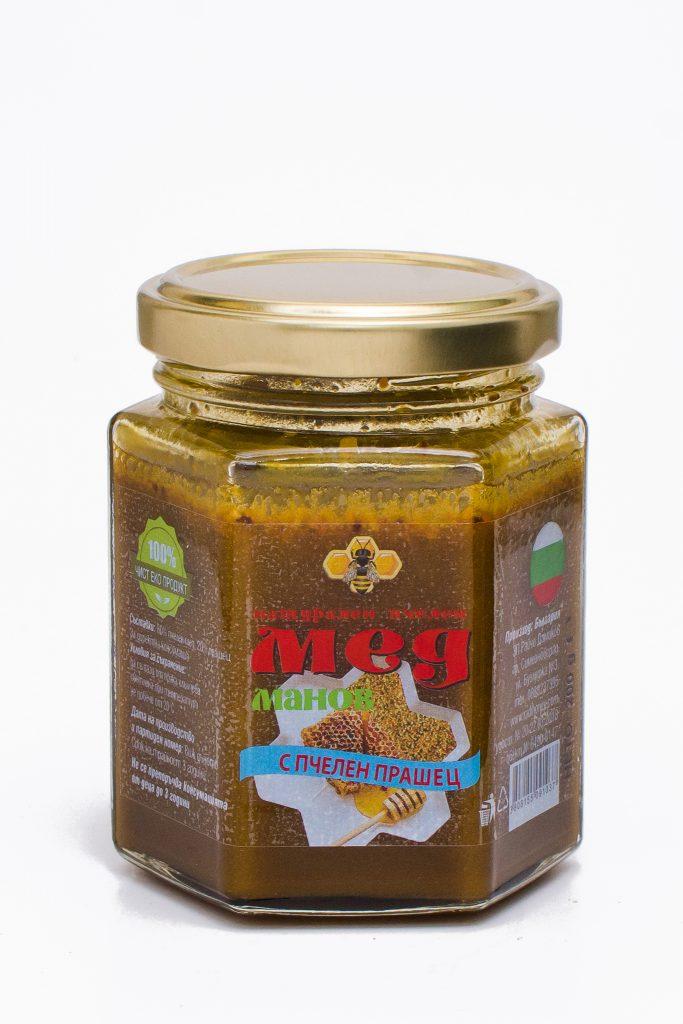 Пчелен прашец в манов мед