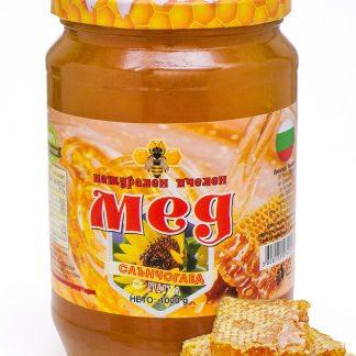 Мед слънчоглед с пита